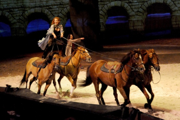 Fairland Ferguson leads the Roman riding in Cavalia