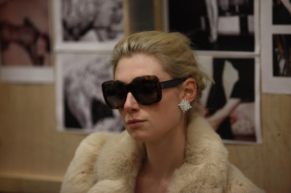 Elizabeth Debicki during rehearsals for The Maids. Photo: Lisa Tomasetti
