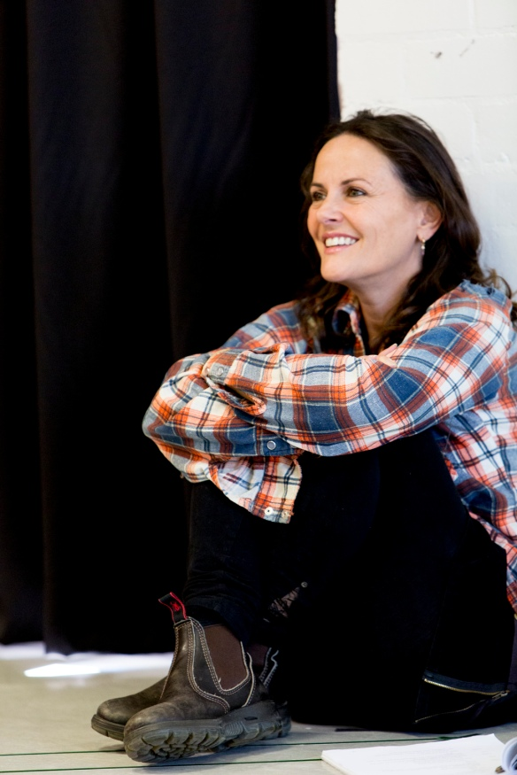 Gia Carides in rehearsals for Beached