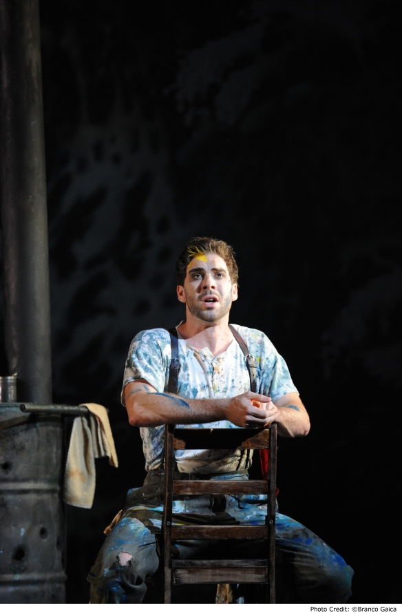 Samuel Dundas as Marcello in La boheme for Opera Australia. Photo: Branco Gaica