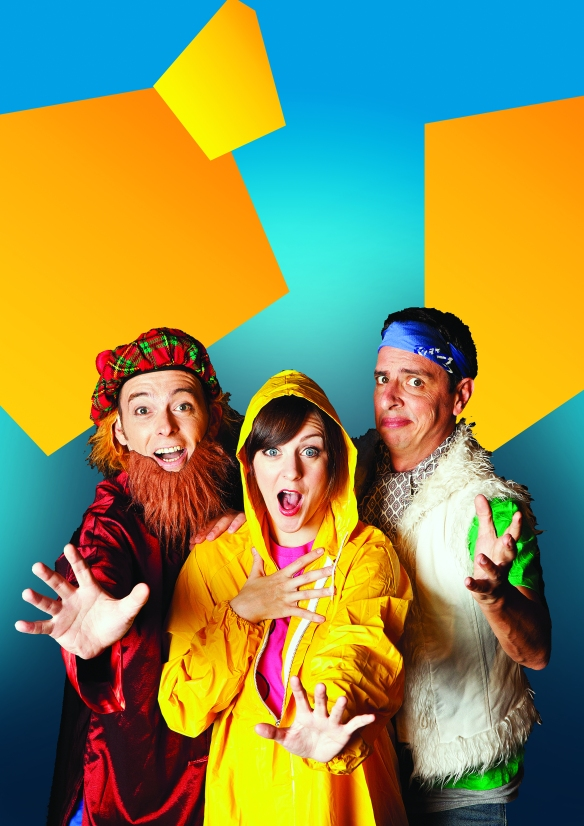 Scott Brennan, Gillian Cosgriff and Rik Brown in Random Musical