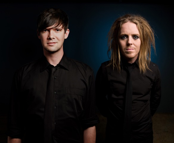 Toby Schmitz and Tim Minchin. Photo: James Penlidis/EllisParrinder