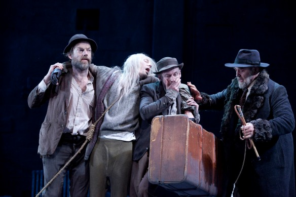 Hugo Weaving, Luke Mullins, Richard Roxburgh and Philip Quast.  Photo: Lisa Tomasetti