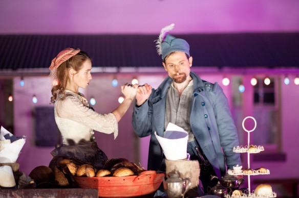 Lizzie Schebesta and Yalin Ozucelik in Cyrano de Bergerac. Photo: Seiya Taguchi