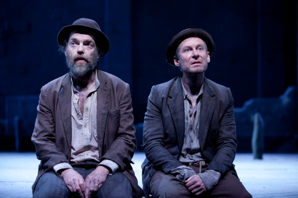 Hugo Weaving and Richard Roxburgh in Waiting for Godot. Photo: Lisa Tomasetti
