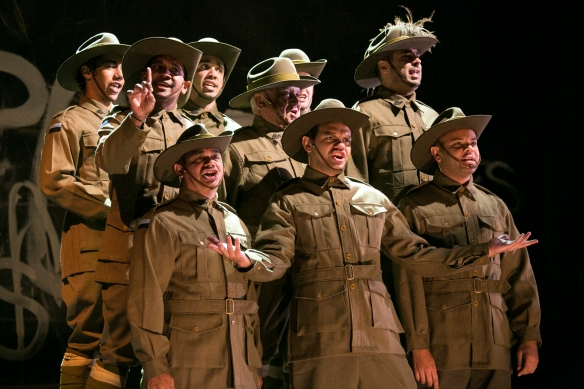 The cast of Black Diggers. Photo: Jamie Williams