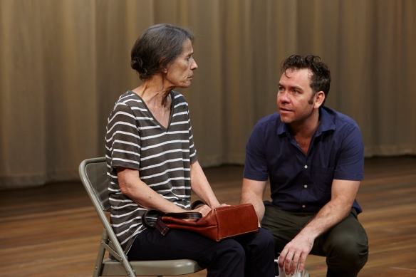Helen Morse and Brendan Cowell. Photo: Ellis Parrinder
