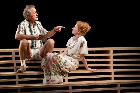 Bryan Brown and Alison Whyte. Photo: Brett Boardman