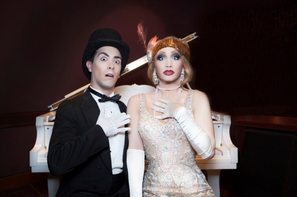 Major Scales and Jinkx Monsoon in The Vaudevillians. Photo: supplied