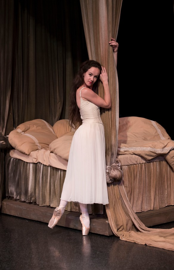 Lucinda Dunn in one of her Manon costumes. Photo: Lynette Wills