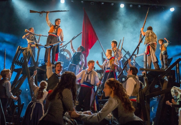 The barricades in Les Mis. Photo: Matt Murphy