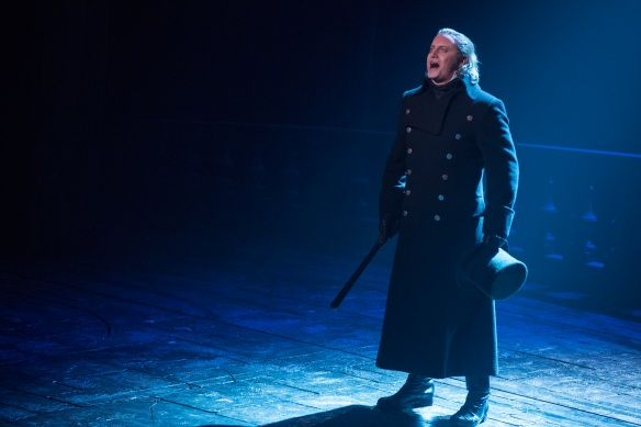 Hayden Tee as Javert. Photo: Matt Murphy