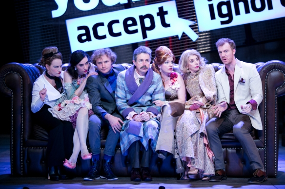 Kate Mulvany, Genevieve Hakewill, Charlie Garber, Sean O'Shea, Helen Dallimore, Jennifer Hagan and Robert Jago. Photo: Lisa Tomasetti