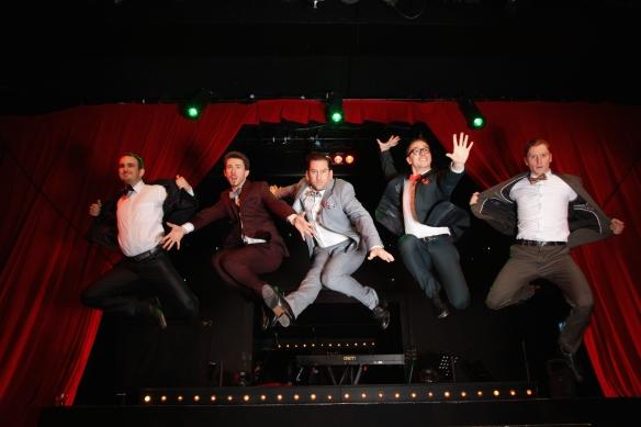 Jesse Rasmussen, Ben Brown, Christopher Horsey, Jordan Pollard and Thomas J Egan. Photo: Shan Turner-Carroll