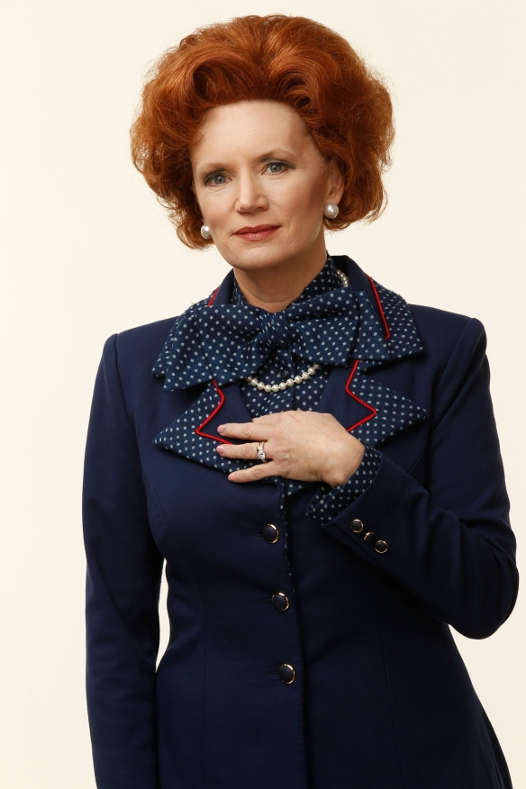 Jane Turner as Margaret Thatcher. Photo: supplied
