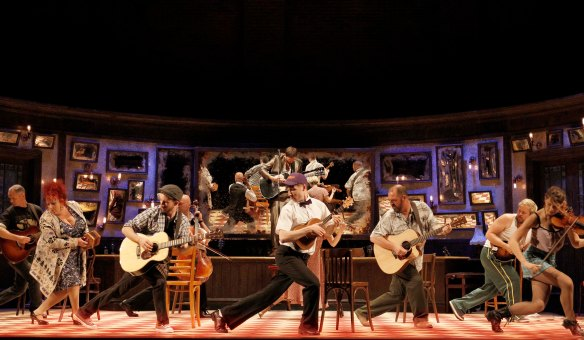 The cast of Once.  Photo: Jeff Busby