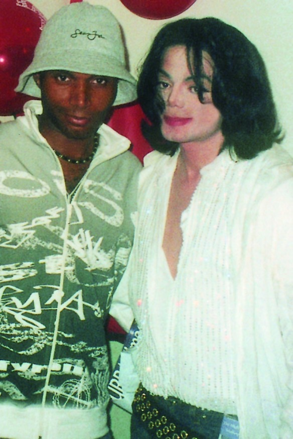 Adrian Grant with Michael Jackson. Photo: supplied