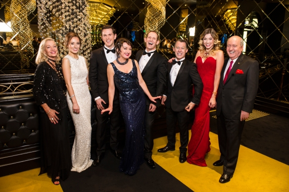 The cast of Anything Goes, Carmen Duncan, Claire Lyon, Alex Rathgeber, Caroline O'Connor, Todd McKenney, Wayne Scott Kermond, Debora Krizak and Alan Jones. Photo: Kurt Sneddon