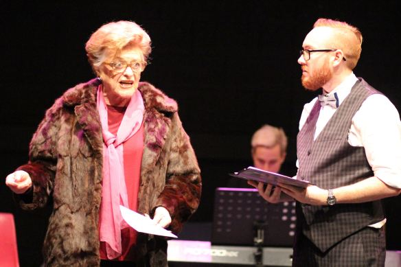 Nancye Hayes as Mrs Peterson and Jay James-Moody as Albert. Photo: Amelia Burns