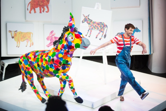A scene from The Artist Who Painted a Blue Horse in The Very Hungry Caterpillar Show. Photo: supplied