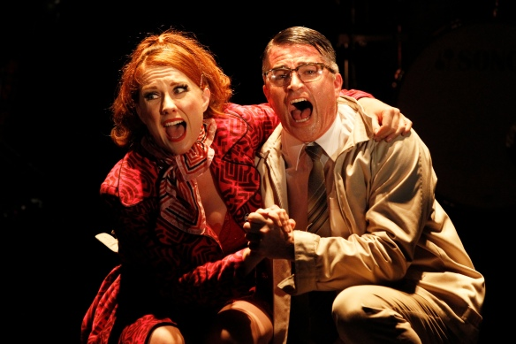 Verity Hunt-Ballard and Martin Crewes as Oscar. Photo: Jeff Busby