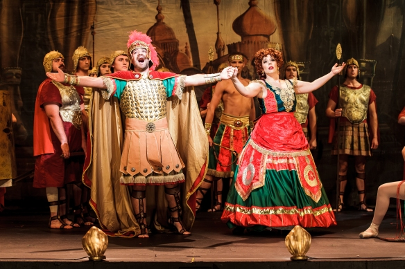 Claudio Sgaramella as Piangi and Johanna Allen as Carlotta. Photo: supplied