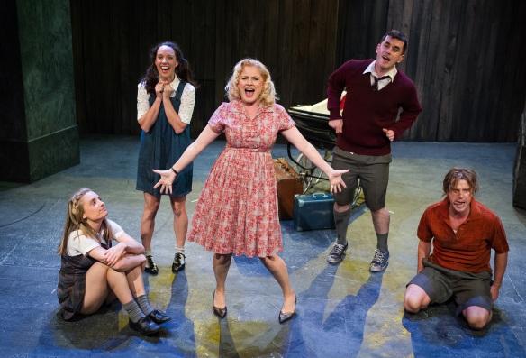 Christy Sullivan, Erin James, Helen Dallimore, Bobby Fox and Jamie Kristian. Photo: Kurt Sneddon