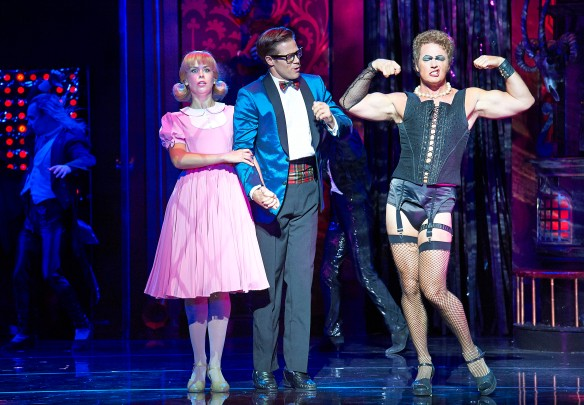 Amy Lehpamer, Stephen Mahy and Craig McLachlan. Photo: Brian Geach