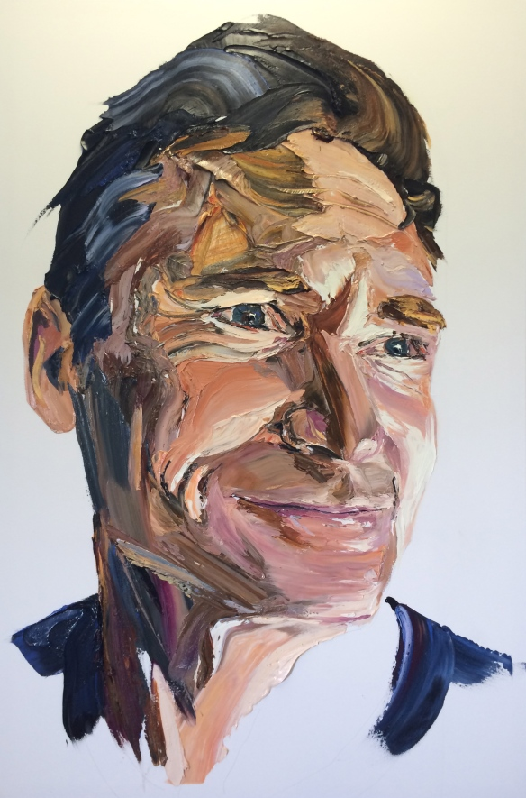 Anh Do's portrait of comedian Dave Hughes. Photo: Eaonn McLoughlin