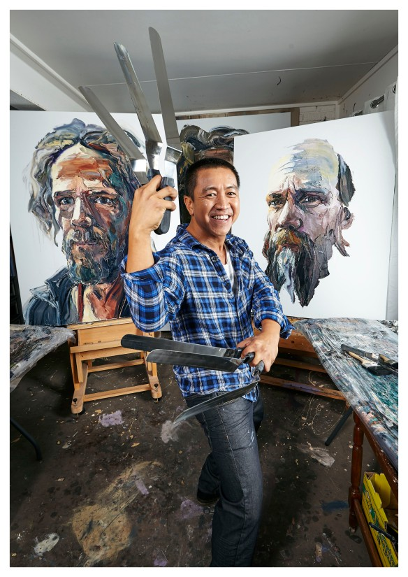 Anh Do in his studio. Photo: Eamonn McLoughlin