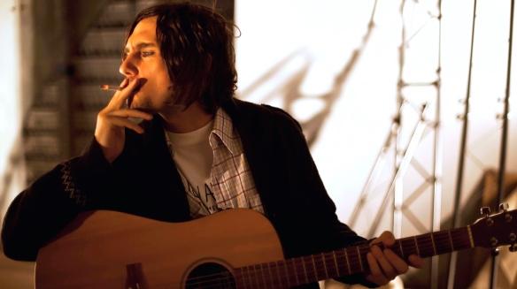 Justin Burford gets on his Kurt Cobain in Kurt. Photo: supplied