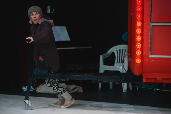 Robyn Nevin as Mother Courage. Photo: Heidrun Lohr