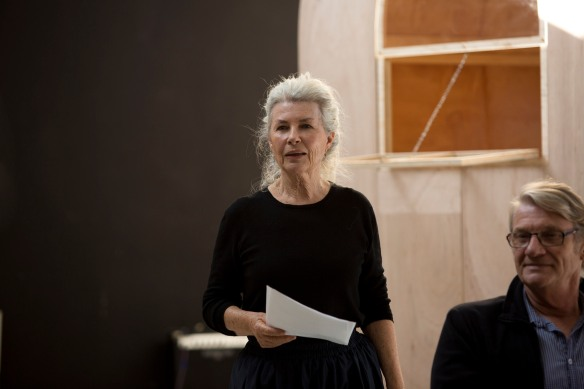Robyn Nevin rehearses Mother Courage. Photo: Lisa Tomasetti