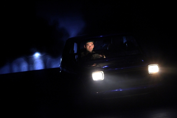 Aleks Mikic as an unlicensed driver in Ghost Stories. Photo: Liam O'Keefe