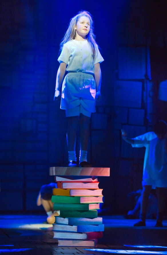 "Bella Thomas as Matilda singing ""Quiet"". Photo: James Morgan"