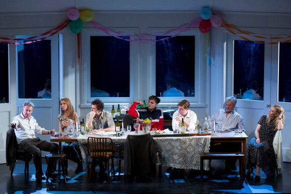 Richard Roxburgh, Jacqueline McKenzie, Chris Ryan, Eamon Farren, Brandon McClelland, Martin Jacobs and Cate Blanchett. Photo: Lisa Tomasetti