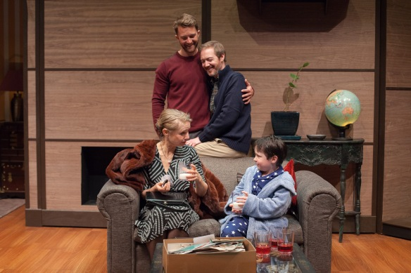 Anne Tenney, Tim Draxl, Jason Langley and Thomas Fisher in Mothers and Sons. Photo: Clare Hawley