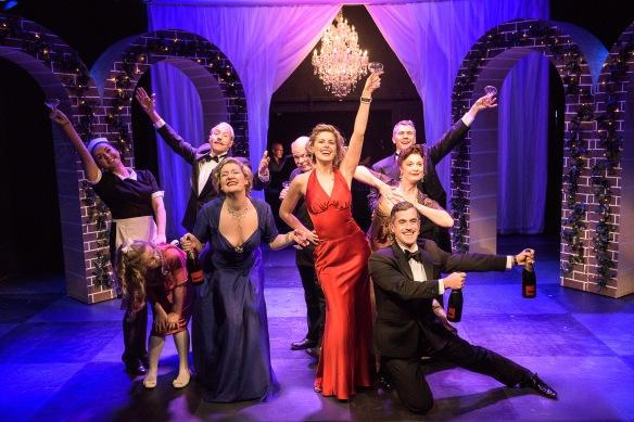 Amy Lehpamer and the cast of High Society. Photo: Kurt Sneddon