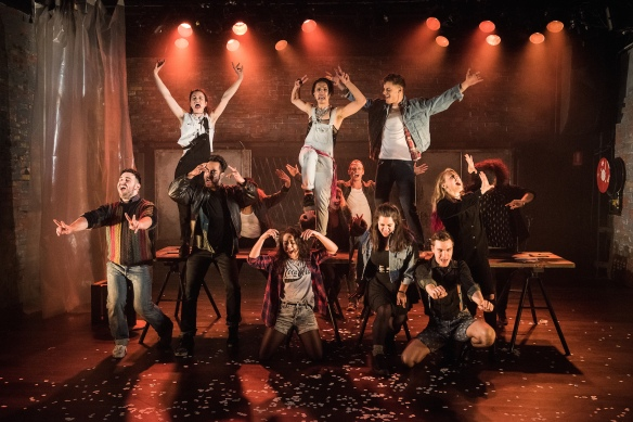 The cast of Rent. Photo: Kurt Sneddon
