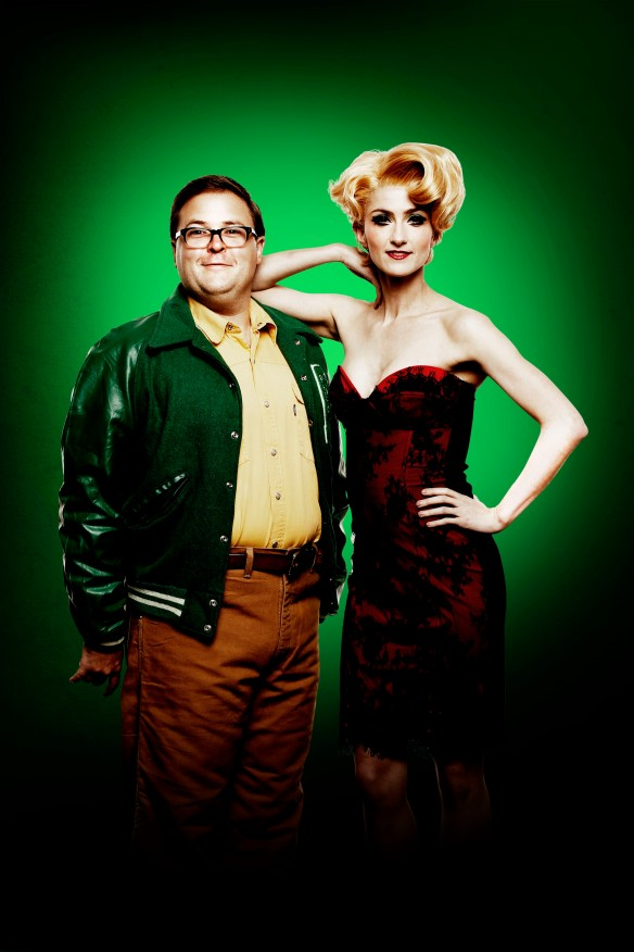 Brent Hill will play Seymour and Esther Hannaford will play Audrey in the new Hayes Theatre Co production of Little Shop of Horrors. Photo: supplied